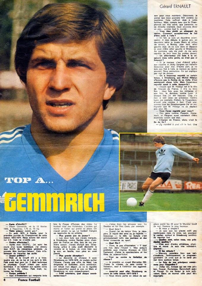 FOCUS ON. Albert Gemmrich.