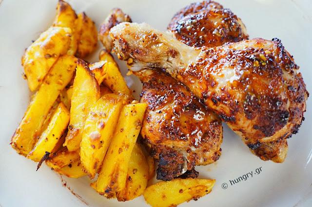 Μπουτάκια Κοτόπουλου στη Σχάρα