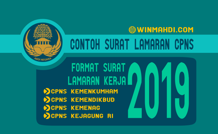 Contoh Surat Lamaran CPNS 2019