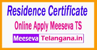 Residence Certificate Online Apply Form Practice Telangana Meeseva