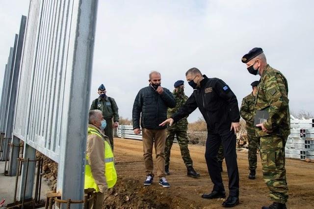 Έβρος: Δεύτερο φράκτη μήκους 65 χλμ κατασκευάζουν Στρατός-ΕΛ.ΑΣ. στα σύνορα