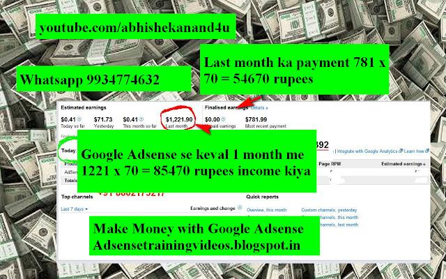 Google Adsense se keval 1 Month me 85470 rupees ka income February 2019 | Google Adsense payment proof of 85470 rupees in one month February 2019 | Google Adsense payment proof February 2019