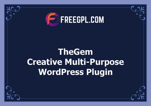 TheGem - Creative Multi-Purpose High-Performance WordPress Theme Nulled Download Free