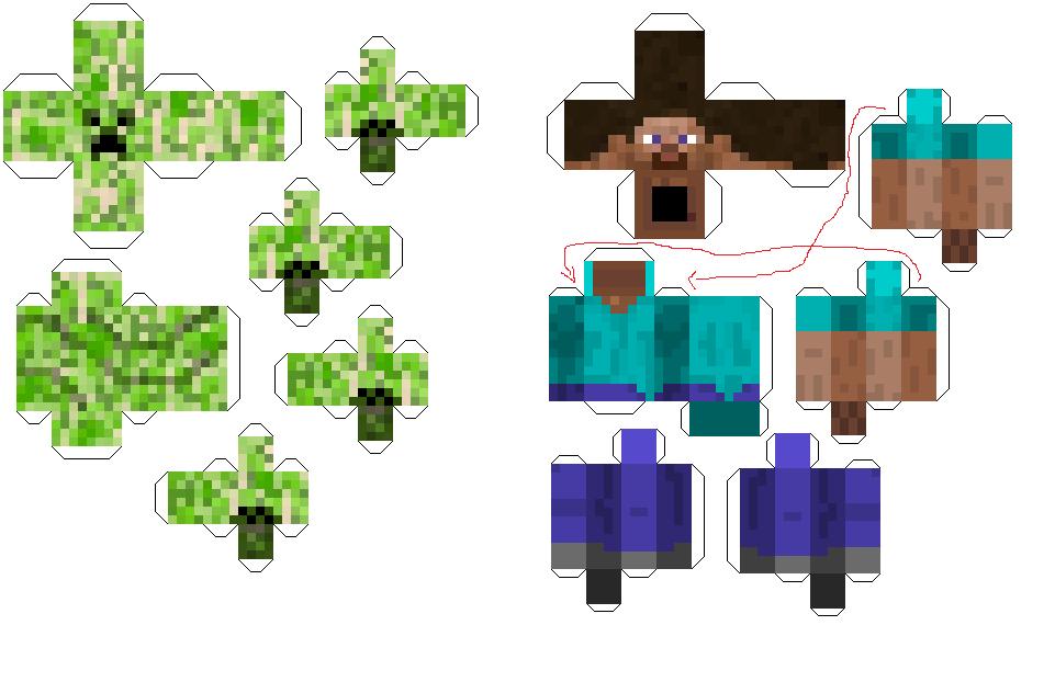 Mobs Papercraft Minecraft
