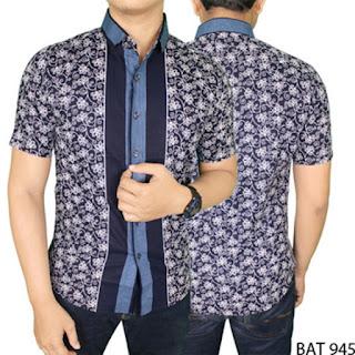 Model Baju Batik Pria Kombinasi Modern