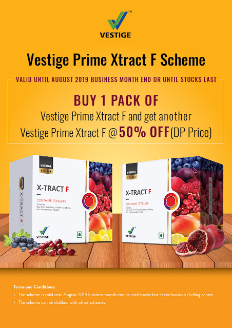 Vestige Re-Purchase Offer August 2019 for Distributors