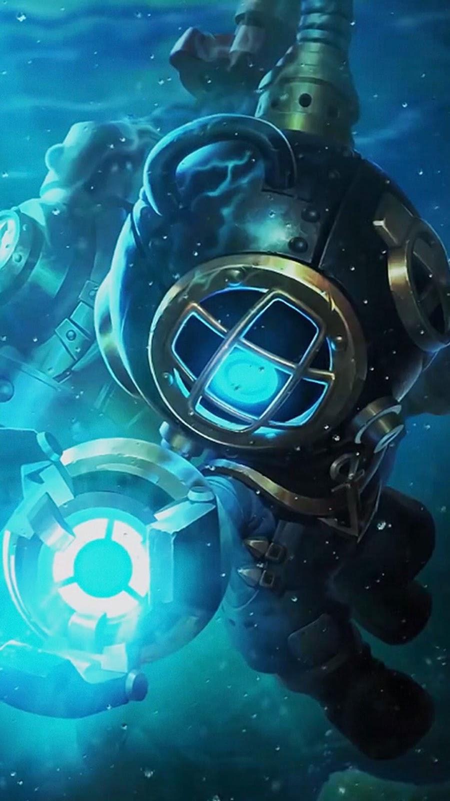 Wallpaper Cyclops Deep Sea Rescue Skin Mobile Legends HD for Mobile
