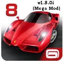 Asphalt 8: Airborne v1.8.0i (Mega Mod) APK