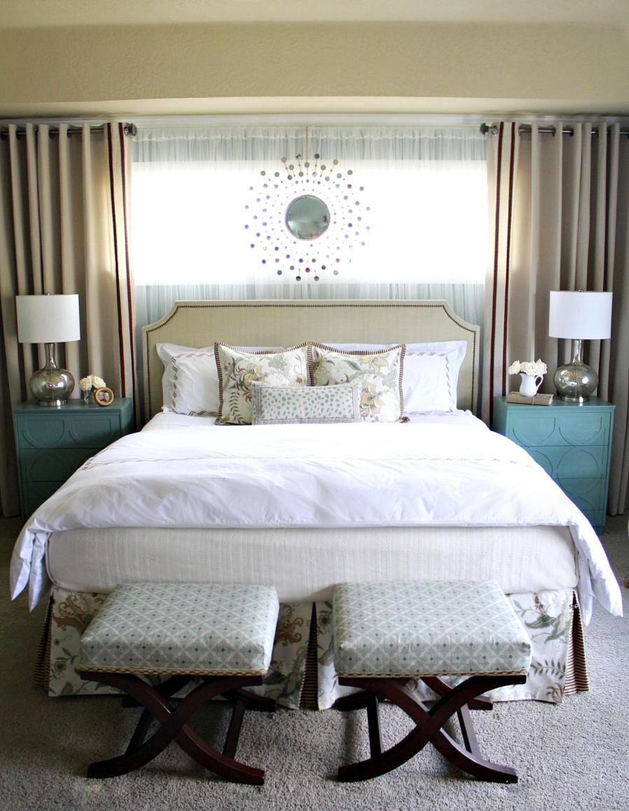 Crafty Sisters: Master Bedroom ~ Reveal! on Master Bedroom Curtain Ideas  id=60757