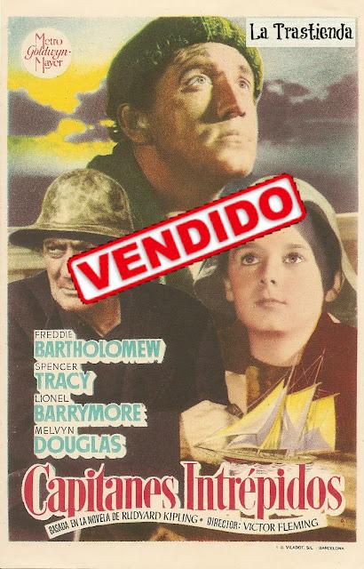Programa de Cine - Capitanes Intrépidos - Spencer Tracy - Freddie Bartholomew - Lionel Barrymore