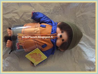 petit kiki streetway, anorak, monchhichi, bebichhichi, kiki le vrai, ajena, jouet, vintage, toys