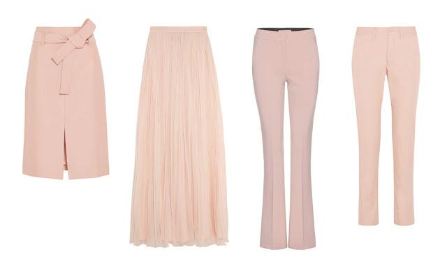 Розовые юбки и брюки
