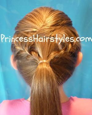 Pleasant Gymnastics Hair French Braid Ponytail Hairstyles For Girls Short Hairstyles For Black Women Fulllsitofus