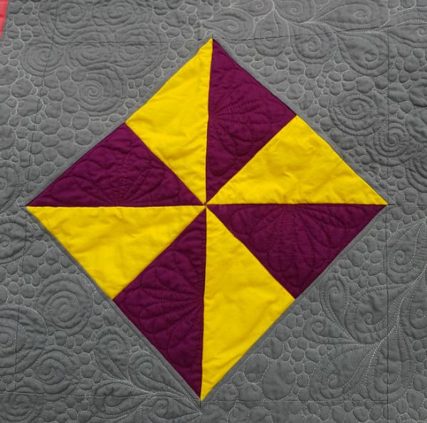 Pinwheel Whirl quilt detail | DevotedQuilter.blogspot.com