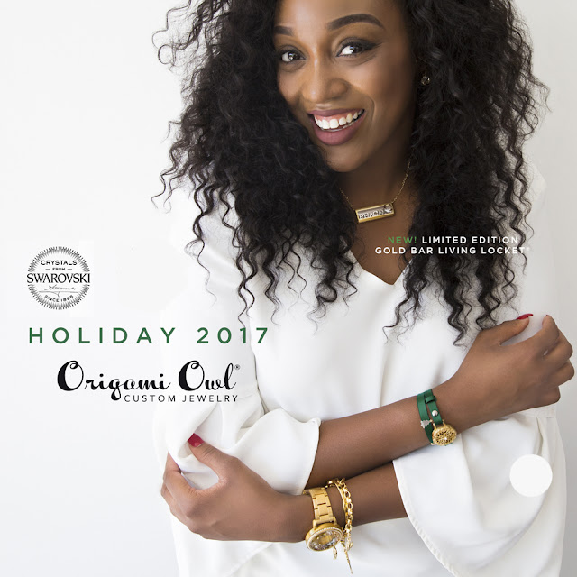 Origami Owl Holiday 2017 Gold Bar Living Locket, Signature Locket Watch and Wrap Bracelet available at StoriedCharms.com