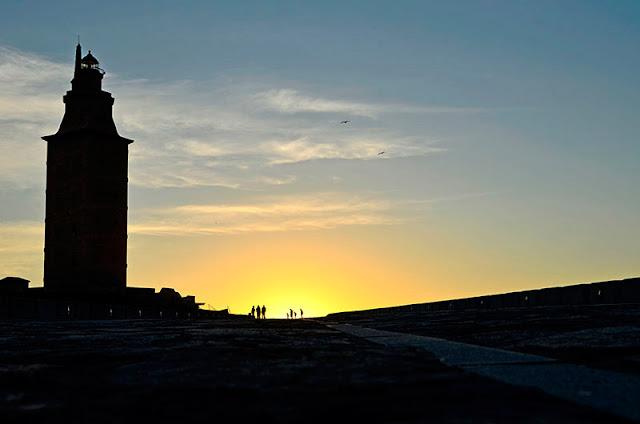 Puesta de sol en A Coruña