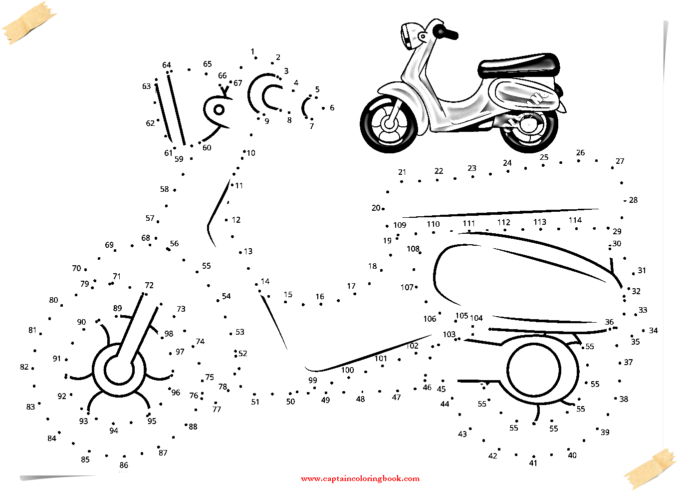 Vehicles dot to dotsfree printable