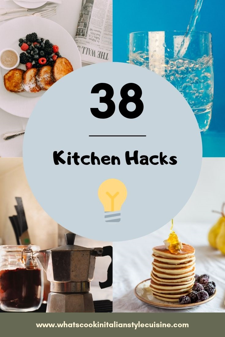 pin for later 30 kitchen hacks