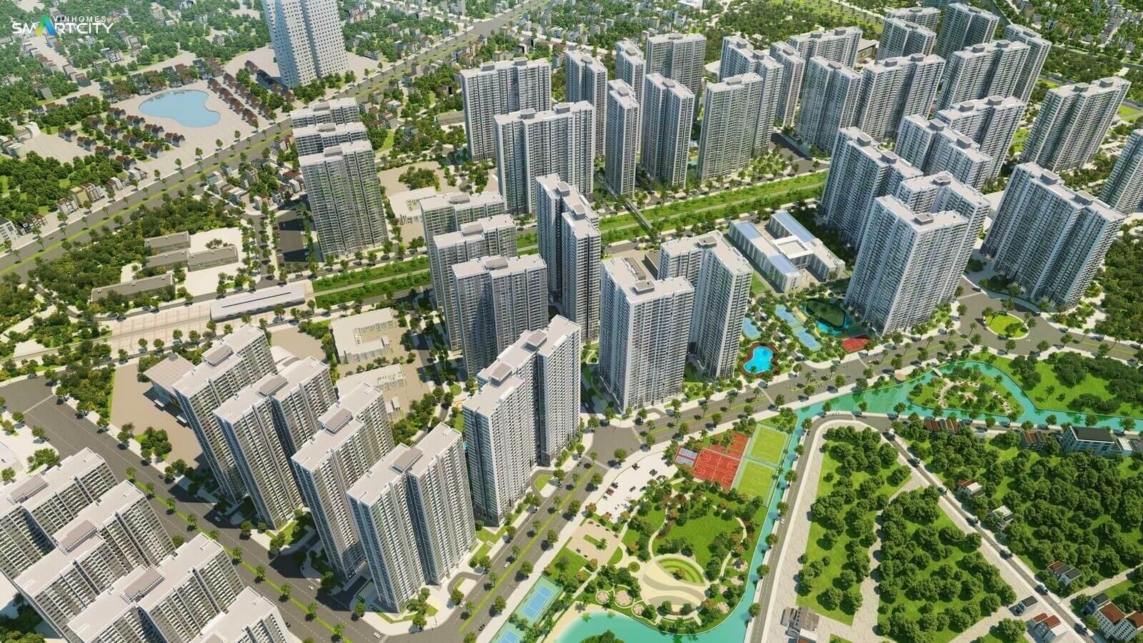 Phối cảnh đại đô thị thông minh Vinhomes Smart City