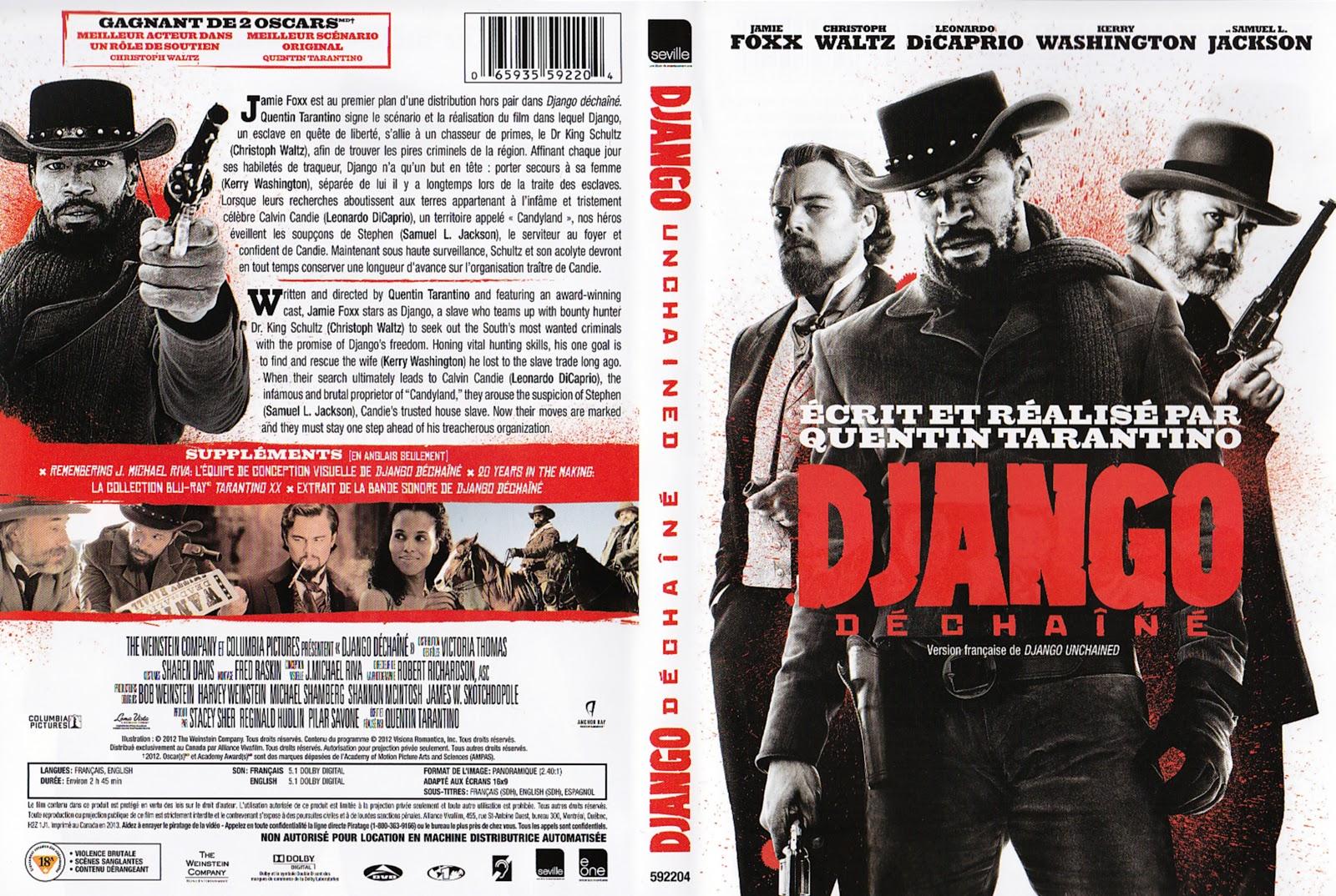 JAQUETTE DVD: jaquette dvd Django dechaine  JAQUETTE DVD: j...