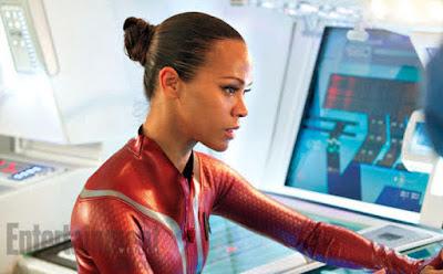 Zoe Saldana as Uhura in Star Trek Into Darkness