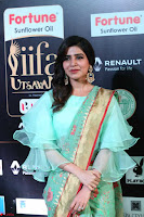 Samantha Ruth Prabhu Smiling Beauty in strange Designer Saree at IIFA Utsavam Awards 2017  Day 2  Exclusive 29.JPG
