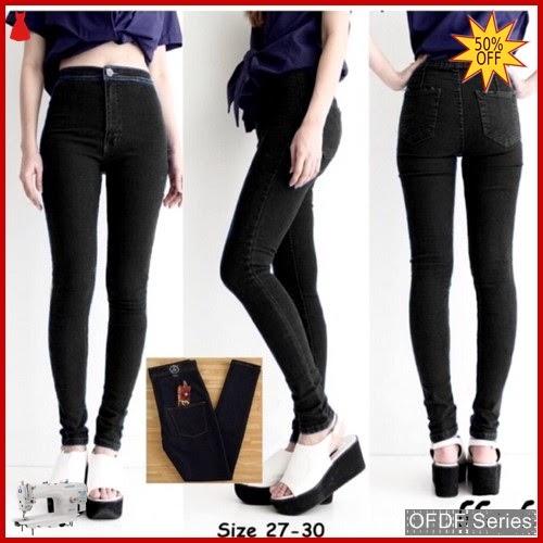 OFDF036 Celana Punny High Waist Jeans Denim BMGShop