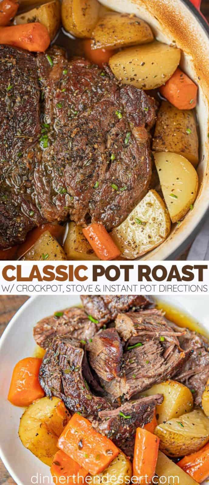 The Best and Classic Pot Roast with Vegetables