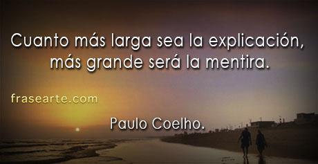 Más grande será la mentira- Paulo Coelho