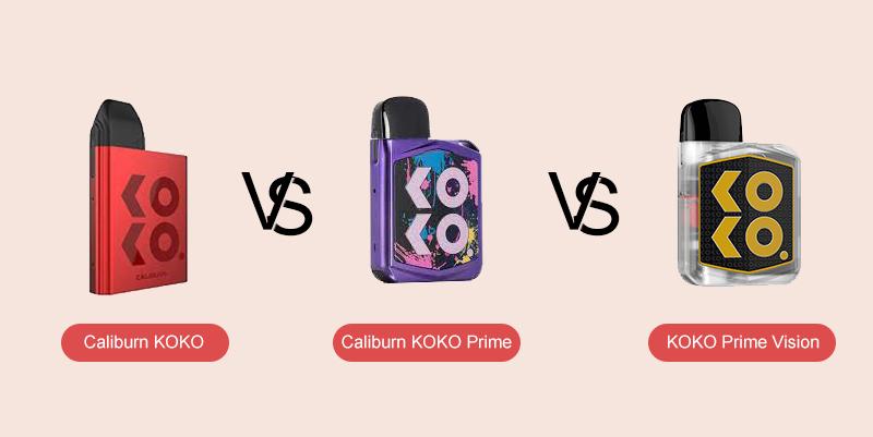 Caliburn KOKO VS Caliburn KOKO Prime VS Caliburn KOKO Prime Vision
