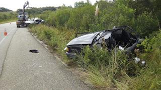 Grave acidente na BR 293 em Pinheiro Machado