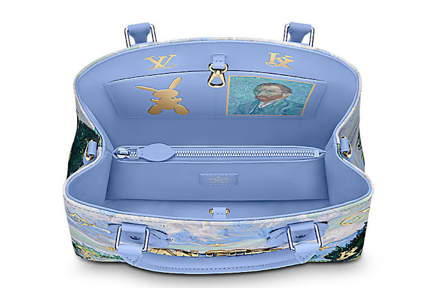 Louis Vuitton x Jeff Koons - Van Gogh Montaigne inside the handbag