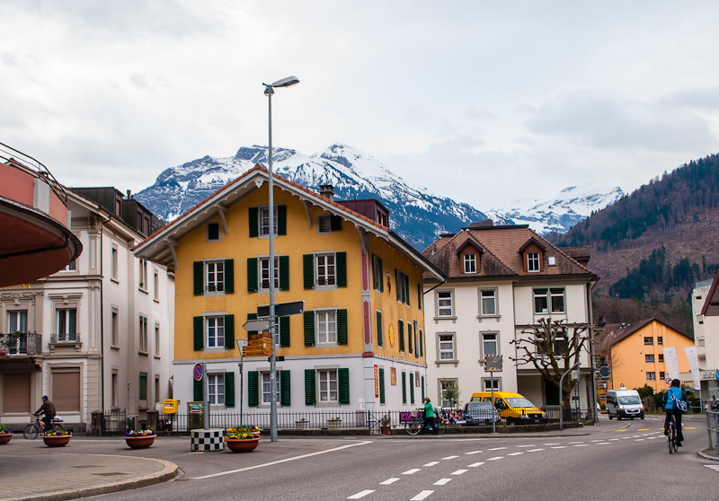 Streets of Interlaken Switzerland