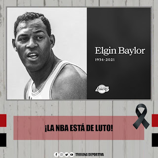 ELGIN BAYLOR, FALLECE LEYENDA DE LA NBA