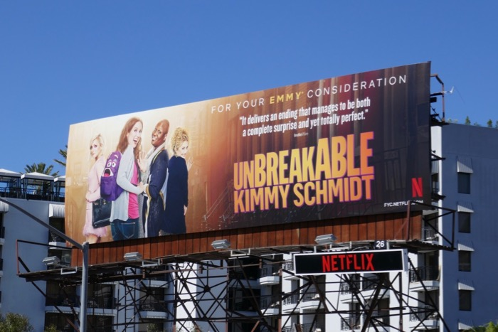 Unbreakable Kimmy Schmidt 2019 Emmy FYC billboard