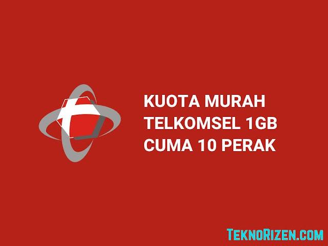 Paket Internet Telkomsel 1GB Rp10 Agustus 2019