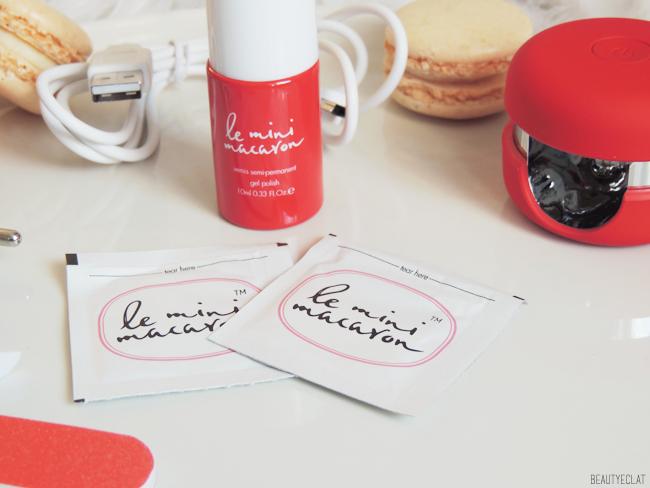 revue avis test kit mini macaron rouge cerise vernis semi permanent maison