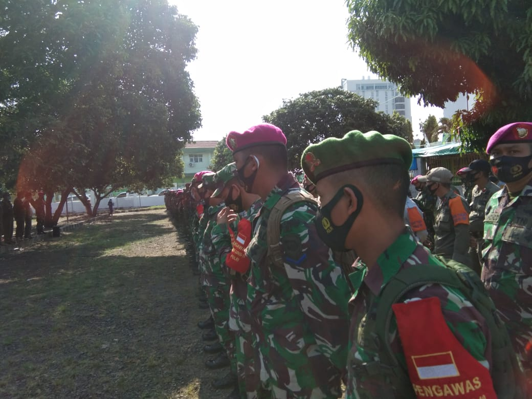 Kodim 0410 Kota Bandar Lampung bersama Gugus tugas percepatan Penanganan Covid-19 Kota Bandar Lampung terus melakukan Patroli