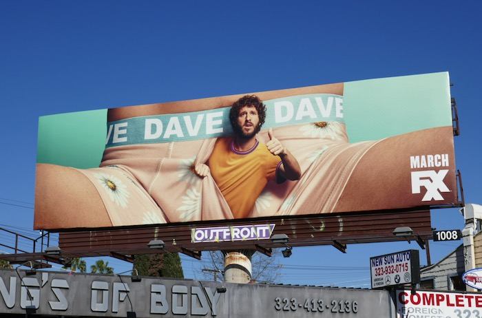Dave series launch billboard