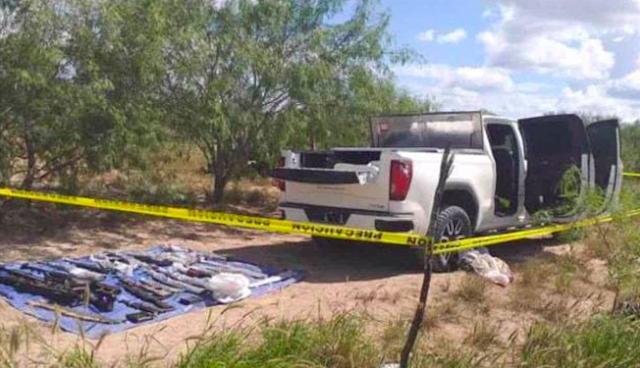 """Ejercito revienta """"narco-campamento"""" guarida del narco, les tumba 29 """"Cuernos de Chivo"""" y mata a 2 Sicarios en Tamaulipas"""