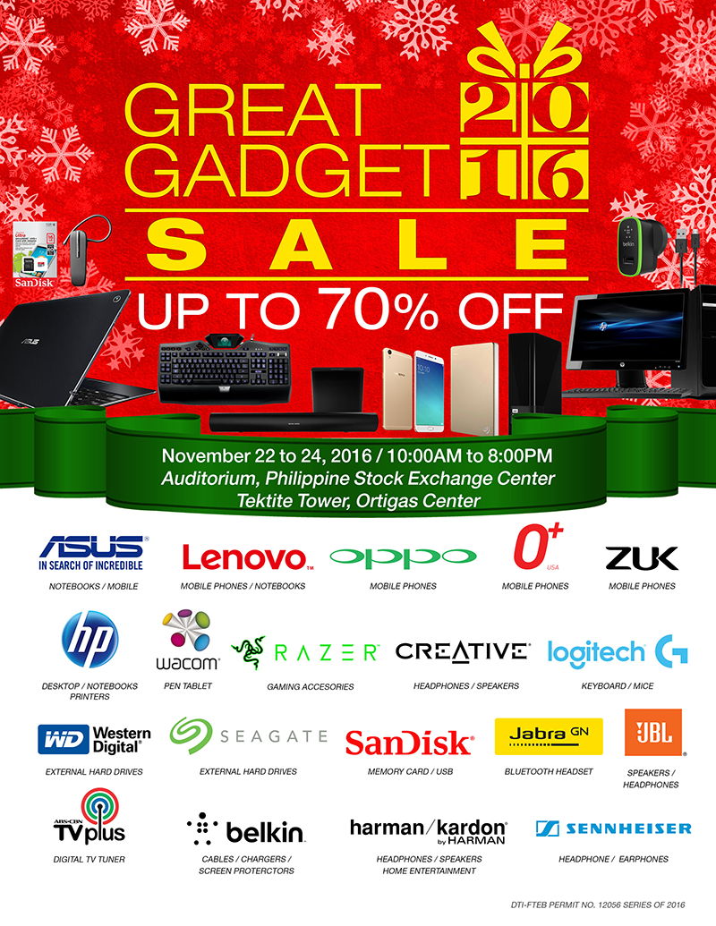 Great Gadget Sale 2016 Announced, Enjoy Up To 70% Off Discount!