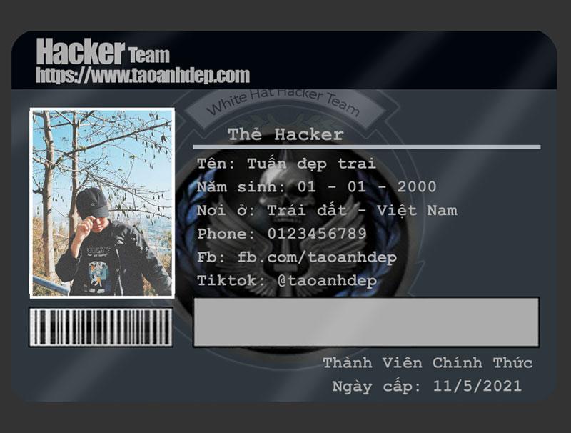 Chế ảnh thẻ Hacker siêu ngầu Online
