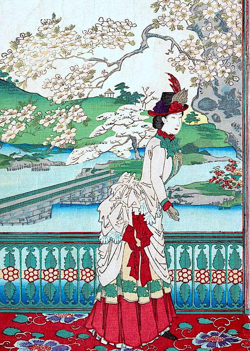 European fashion in old Japan 1889
