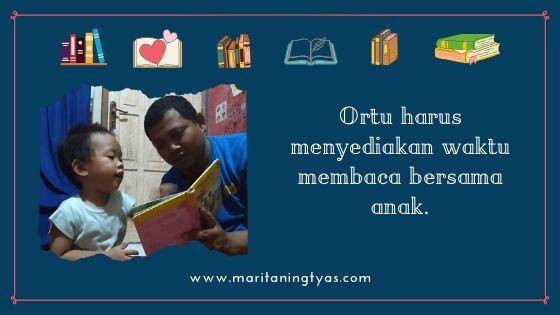 ortu harus menyediakan waktu membaca
