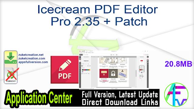 Icecream PDF Editor Pro 2.35 + Patch