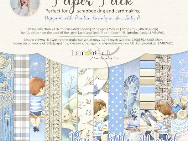 How I designed Lemoncraft collection Boy's Little World? / Jak powstały papiery Lemoncraft Boy's Little World?