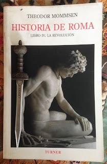 Portada del libro IV de Historia de Roma, de Theodore Mommsen