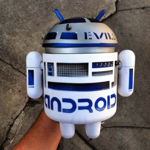 R2-D2 Star Wars Custom Mega Android Vinyl Figure (Back) by Evilos