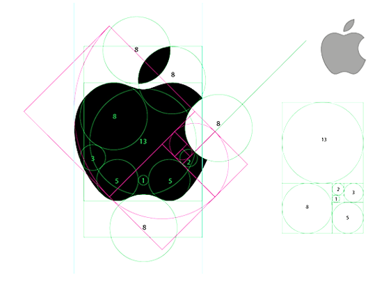 Designer gráfico de número dourado - logotipo da Apple