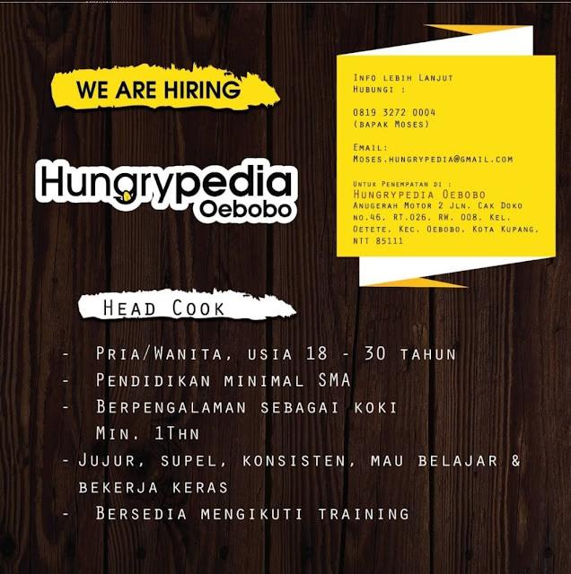 Lowongan Kerja Hungrypedia Oebobo